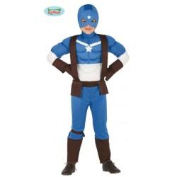 Costume Bambino Supereroe Capitan Hero