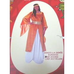 Donzella della Borgogna, costume donna taglia 44 per carnevale