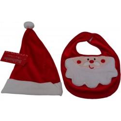 Set Bavaglino + Cappellino Babbo Natale