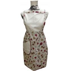 Tris Zara: apron, oven mitt and potholder red