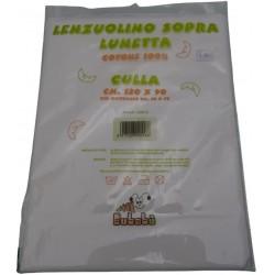 "Lenzuolino sopra culla 120x90 cm. ""Lunetta"""