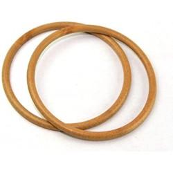 Coppia di manici rotondi in legno