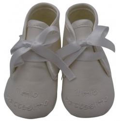 """Scarpine neonato con ricamo """"il mio battesimo"""" art. D0074"""