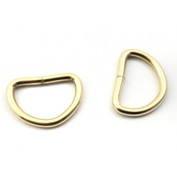 Passanti metallici oro e argento 2 pz - art. 495.086