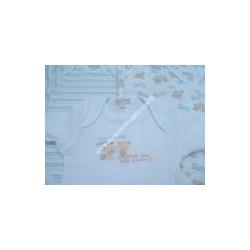3 body manica lunga, cotone felpato stampato, cielo LIABEL